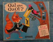 Jeu Qui avec Quoi, années 60, Fernand Nathan - Cavahel Vintage