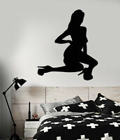 Vinyl Wall Decal Striptease Naked Hot Sexy Girl Stripper Stickers (2082ig)