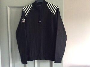 Sunderland of Scotland ladies quarter zip lined top size Small black