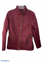 Pendleton Womens Plum Burgundy Collared Full Zip Quilted Jacket Size Large