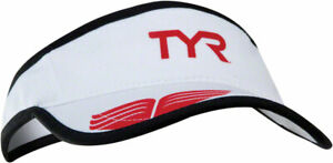 TYR Competitor Running Visor: White/Red One Size