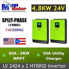 Inversor solar 4800w 24v 110v 220va 80A MPPT cargador solar, cargador de 60A
