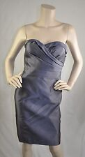 Adrianna Papell NWT Strapless Sweetheart Cocktail Dress Satin Gray Size 10 $159