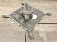 Dunelm Baby Elephant Comforter Blanket Soft Toy grey blankie Ellie & Friends NEW