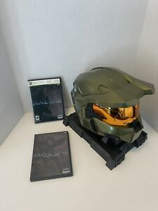 Halo 3 Legendary Edition Master Chief Helmet W/ Stand & Game Disc Xbox 360,2007