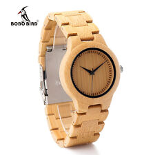 BOBO BIRD L28 Bamboo Wooden Watches for women with Wood Band Quartz Watch