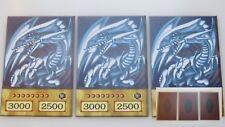 KAIBA 3 X BLUE EYES WHITE DRAGON!! YUGIOH ORICA ANIME CARDS