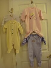 Footed Sleepers Simply Basic Purple & Carter's White, Pink &Yellow Size 6-12 Mo