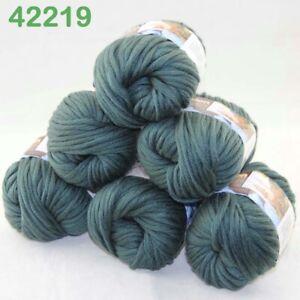 Lot 6 SkeinsX50gr Cotton Baby Chunky Double Knitting Scarves & Crochet Yarn 19