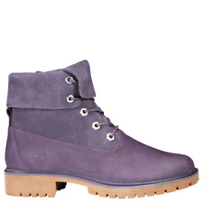 Timberland Jayne Fold Down Boots (Women Size 6) Purple Roll Top A1XC2