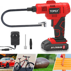 20V Cordless Air Compressor Car Tyre Inflator w/Digital Pressure Gauge LED Light