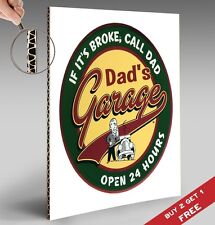 DAD'S GARAGE Poster Hilarious Funny A4 Photo Art Print Home Wall Door Sign Deco