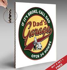 DAD'S GARAGE Poster Hilarious Funny A4 Photo Art Print Home Wall Door Sign Deco