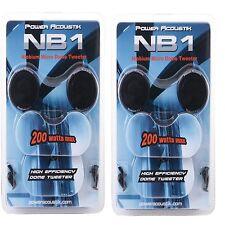 "POWER ACOUSTIK NB-1 1"" SURFACE/ANGLE MICRO DOME TWEETERS NIOBIUM 200 WATTS"