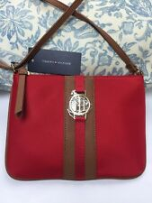 "Tommy Hilfiger Crossbody 6.5""x9"" Handbag Shoulder Bag Red 100% Authentic NEW$69"