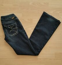 Silver Women's Pioneer Boot Cut Blue Dark Wash Jeans Size 27 (28 x 32)
