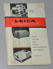 1962 Leica Leicina Catalog Book No. 36