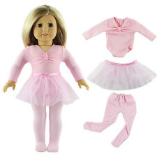 Hot 3 Pcs Set Ballet Skirts/Outfit Doll Clothes for 18'' American Girl