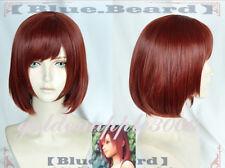 "14""35cm KINGDOM HEARTS III Kairi Red Brown Cosplay Wig Party Wigs"