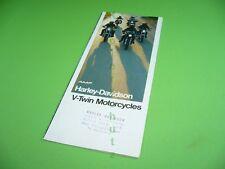 406KA2 70er Jahre Prospekt, 1970s Brochure: Harley-Davidson V-Twin Motorcycles