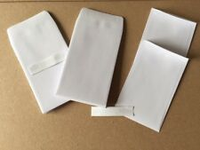 50 X SMALL WHITE DINNER MONEY/WAGE/COIN/SEED WEDDING ENVELOPES 90GSM 100m... NEW