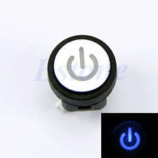 Blue Symbol Push Button Momentary Latching Computer Case Switch Led Light Power
