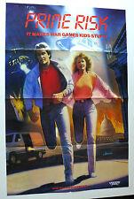 PRIME RISK 1980s ORIGINAL VHS HOME VIDEO CASSETTE MOVIE POSTER SCI FI WAR GAMES