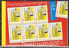 Nederland PQ1b postaumaat rood- SPECTACULAIRE MISDRUK ONTBREKENDE ZWARTDRUK