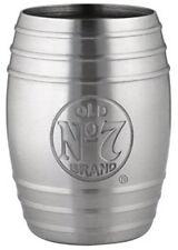Jack Daniel's Whiskey Barrel Stainless Steel Shot Glass Bug Logo 2oz, Gift Pack