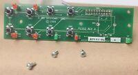Nice Used Circuit Board w/Push Buttons, LEDs Emu Proteus 1000 2000.  #EMUPRO-25