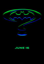 BATMAN FOREVER ROLLED 2-SIDED CHASE ADVANCE ORIGINAL MOVIE POSTER 1995 DR