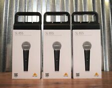 Behringer Sl85S Dynamic Cardioid Vocal Microphone On/Off Switch 3 Pack Bundle