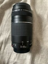 Canon Ef 75-300mm f/4-5.6 Iii Lens Canon Digital Slr Camera Look No Reserve .99