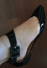 New Nina Patent Leather Flats Shoes Marked 8.5 But Fits 7.5 Or 38.5 Or 39 Or 8
