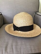Ann Taylor Straw Wide Brim Hat