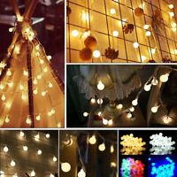 10m LED Globe Bulb Ball Fairy String Lights Garden Outdoor Waterproof-