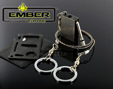 Survival Wire Saw EmberStryke Perma-Match Fire Starter 11-1 Multi Tool Card