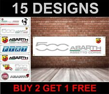 fiat abarth car logo banner picture poster pvc fiat abarth