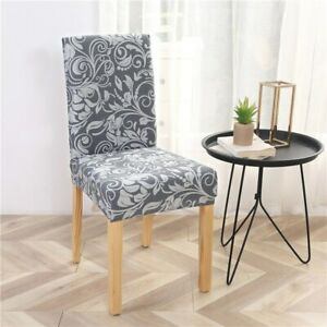 Stretch Chair Cover Printing Slipcover Anti-dirty Dining Living Room Home Decor