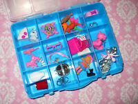 Mattel Barbie Doll Accessory Lot Accessories for KELLY DOLL in CASE Chelsea Toys