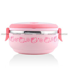 Hello Kitty Stainless Steel Bento Lunch Box Lunchbox Picnic Metal Food Container