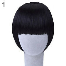 Distinct Girl's Clip On/In Neat Bang Straight Fake Fringe For Bob Hair Style