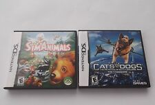 2 Nintendo DS video games Sims Animals Cats & Dogs Kids Boys Girls toys FREESHIP
