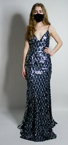 NWT Jovani 67448 Strappy Back Sequin Formal Prom Gown