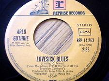 "ARLO GUTHRIE - LOVESICK BLUES  7"" VINYL"