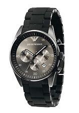 Brand New Emporio Armani AR5889, Full Black Silicone Chronograph watch