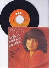 """Paola, Liebe ist nicht nur ein Wort, VG+/VG++ 7"""" Single 0897-6"""