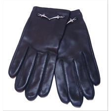 CESARE PACIOTTI donna guanti in pelle taglia s  con logo in argento SL0062