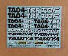 RC Tamiya Decal 49278 TA04-TRF Special Chassis Kit 2003 NEU NIB