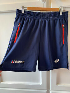 ASICS Mens Shorts. Blue. France. EUC, Zip Pockets, Size M